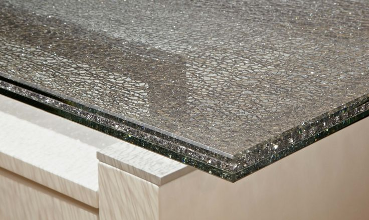 """Crackled 84"""" x 44"""" Large Dining Table Top Smoke Crackled"""