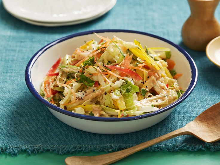 Asian Slaw Recipe : Alton Brown : Food Network - FoodNetwork.com Added 1 TBL honey to sweeten