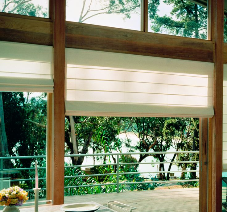 Luxaflex  Roman Shades - Beach - Roman blinds with a contemporary look and feel.
