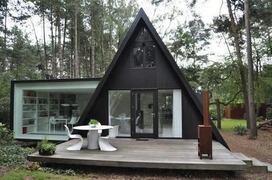 Triangular Extension VB4 House. An A frame with a modern twist
