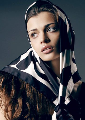Head scarf, ready to tie under chin