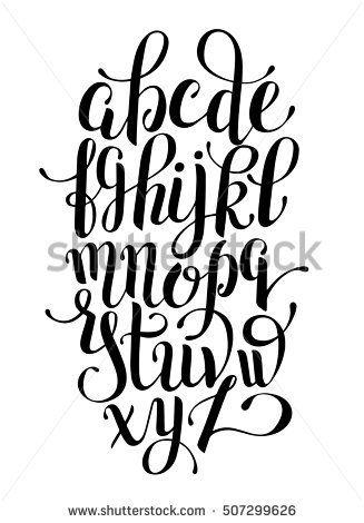 Exceptionnel Les 25 meilleures idées de la catégorie Alphabet de calligraphie  HY77