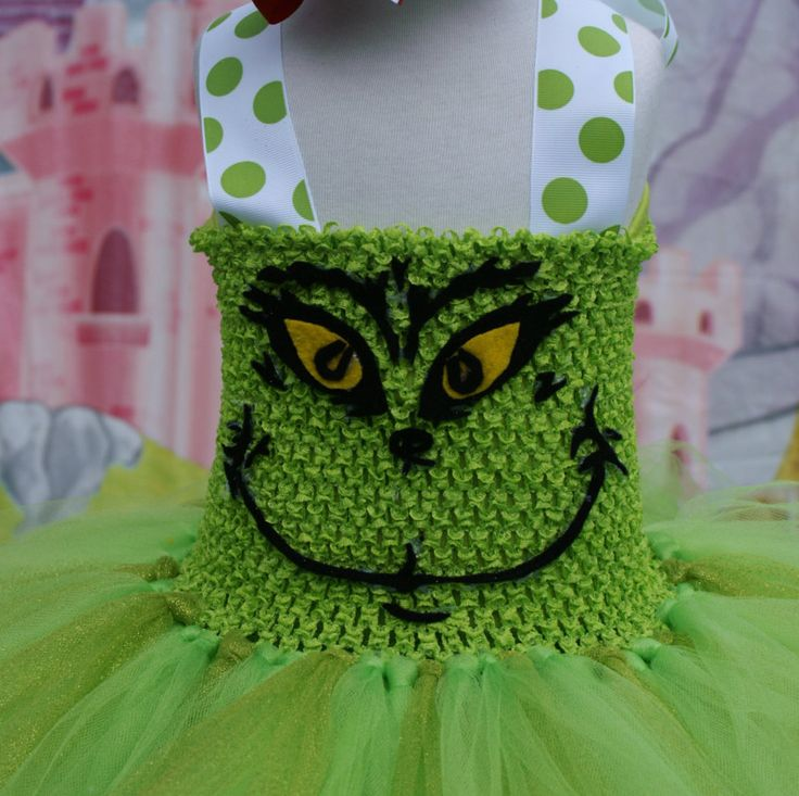 Grinch Tutu Dress, Christmas Tutu dress, Grinch Tutu, Christmas Tutu by TinyPrincessDesigns on Etsy