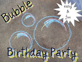silly = sane: bubble birthday party