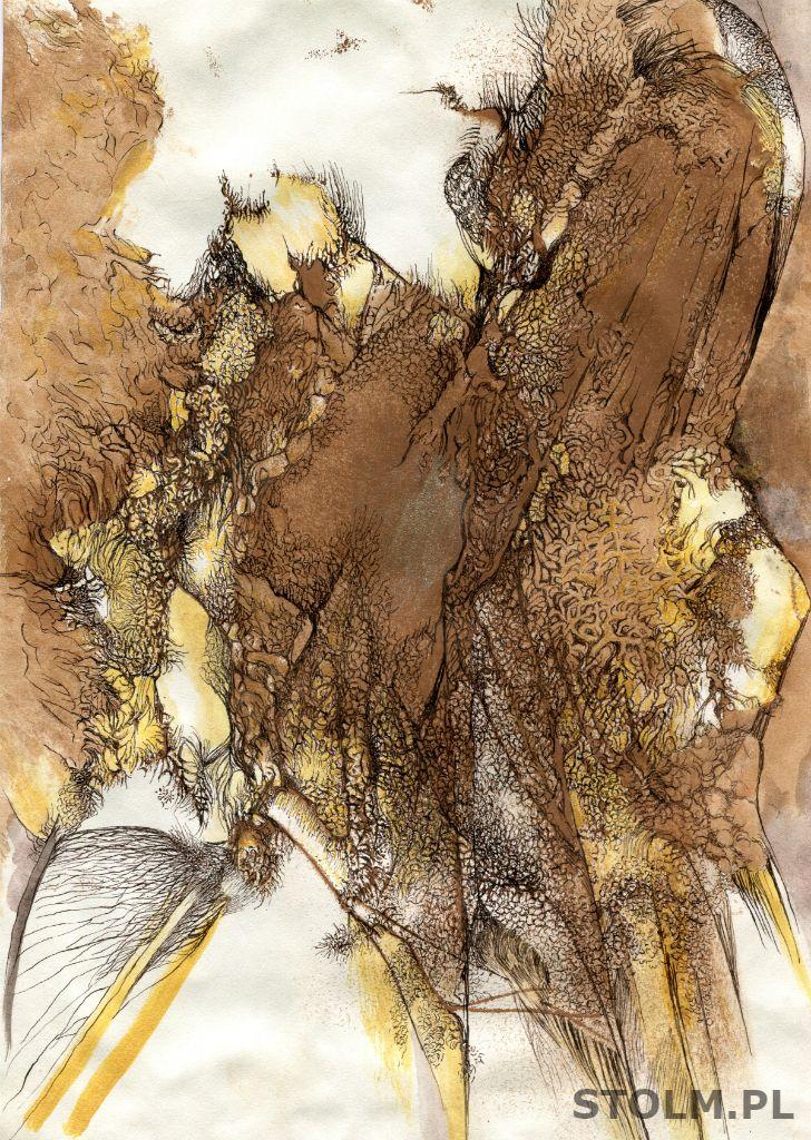 Hill ink on paper artist Stanisława Olszańska Marszałek abstraction art