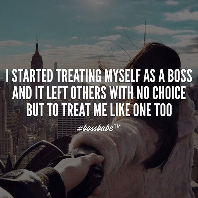 It all starts with how you treat yourself. Never forget that. Join the #Bossbabe Netwerk (Click The Link In Our Profile Now! ) Follow @bossbabealex & @millennialrichgirl  now for more inspo!