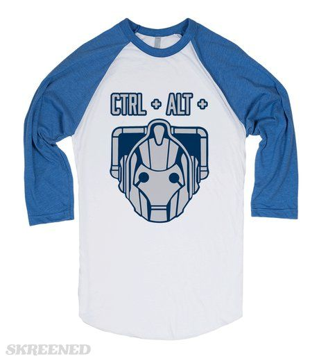 Control, Alt, Delete (Cyberman) | Show off your love for your favorite Doctor Who villain with this Control, Alt, Delete shirt! This makes the perfect shirt to wear while you're marathoning your favorite Cyberman episodes! It's also a great gift for your favorite Whovian. #Control #Alt #Delete #Cyberman #DoctorWho