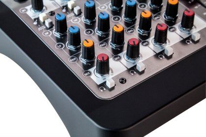 Allen and Heath Zed-6 Compact Mixer, 6-Channel, New, Closeup 3
