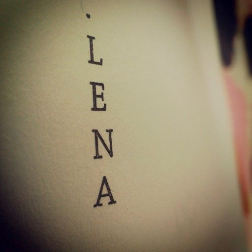 Four letters, one character - LENA Beautiful Chaos  18 Lunes