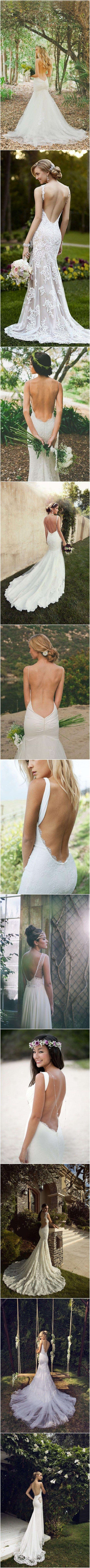 52 Perfect Low Back Wedding Dresses