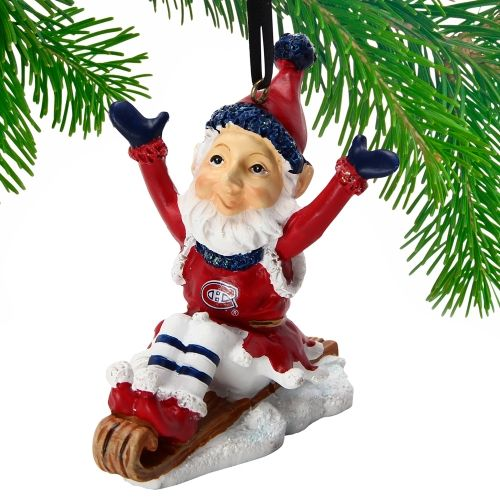 NHL Montreal Canadiens Elf On A Sled Ornament