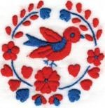 a cute little birdy:) - Hungarian embroidery
