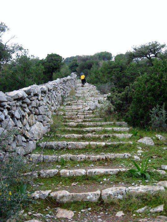 Hike to the Monastery in Hydra, Greece