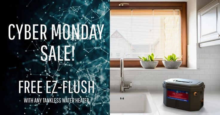 Shop Eccotemp's Cyber Monday Sale all week long! Receive a FREE EZ-Flush with any tankless water heater, upgrade any portable tankless water heater, and snag a FREE vent kit for the Eccotemp 45HI Indoor Tankless Water Heater! Don't miss out! Use code: CYBER5 at checkout!