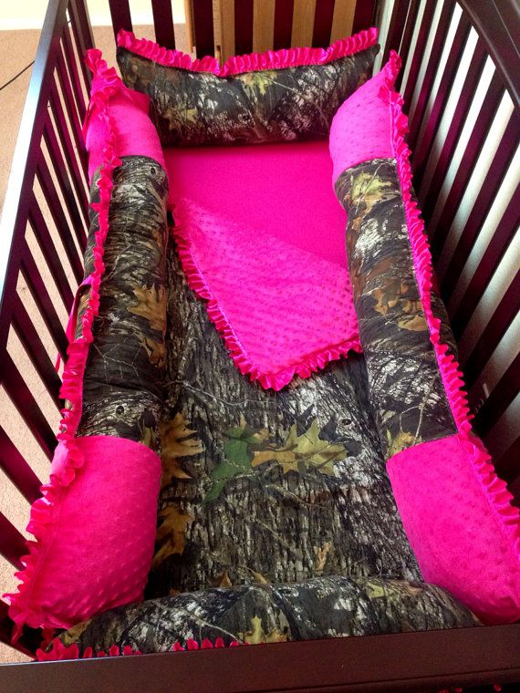 HoT PiNK MoSSY oaK BaBy BeDDiNg by ITBURNSBABY on Etsy