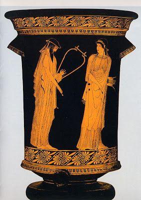 Brygos Painter (metade do século V) Sappho and Phaon (470 BC). Vaso grego. Metropolitan Museum of Art, Nova York.