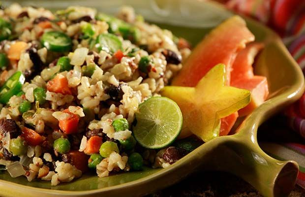 Warm Caribbean Beans and Rice