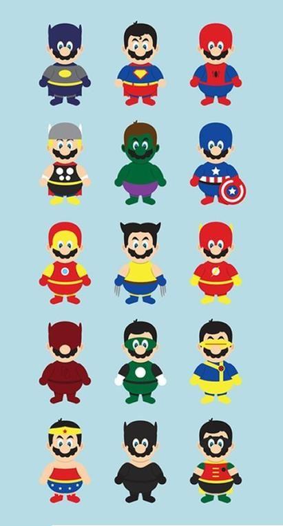 ~Mario versões super-heróis~