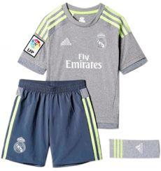Conjunto 2ª Equipacion Real Madrid Niños 15/16