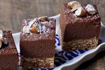 Choc-banana cheesecake