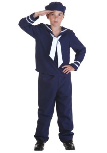 Ahoy! If he wants to set sail on a sea voyage this Child Blue Sailor Costume is a great choice. This classic nautical uniform is fun for Halloween and dress-up too!