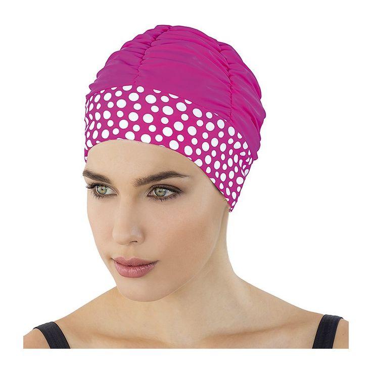 Découvrez nos nouveaux modèles de bonnets de bain fantaisie pour femme ! Un  bonnet à pois