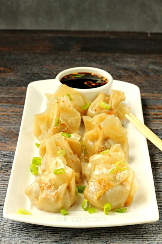 Fill your plate with EAsy Pork Pot Stickers they're are stuffed with pork and vegetables.