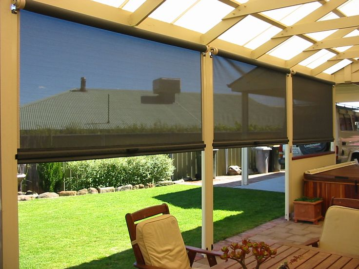 outdoor patio blinds | premier comfort heating - Cheap Patio Shade Ideas