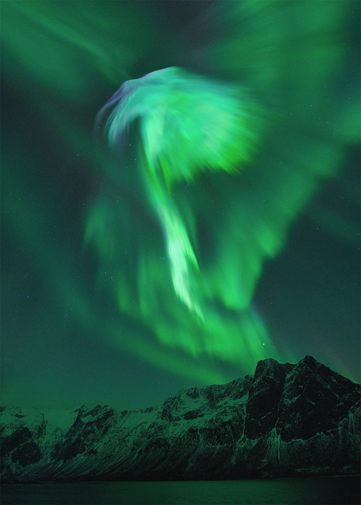 result of the solar flare. norway january 23rd.