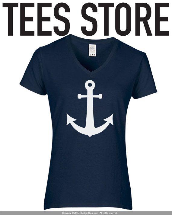 Chemise d'ancrage / féminin Cruise chemise / nautique par TeesStore
