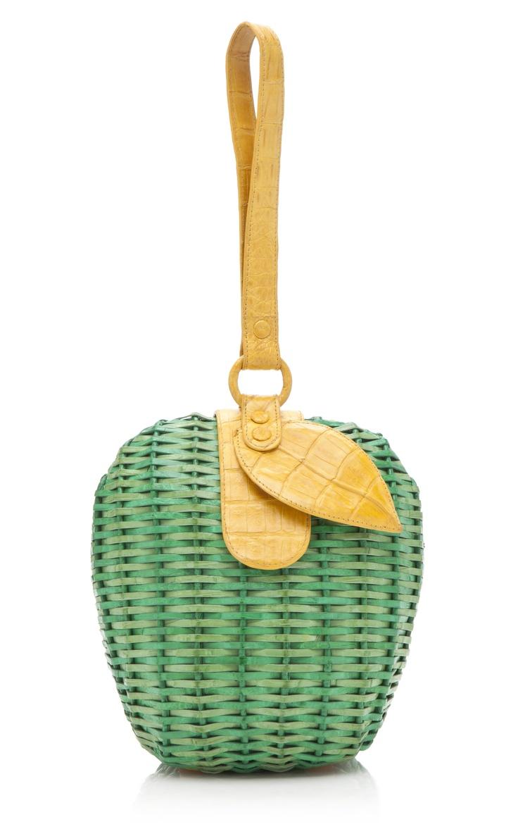 Just in time for Fall! Nancy Gonzalez Crocodile Wicker Apple Clutch at Moda Operandi