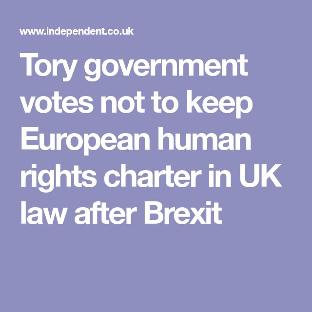 Tory government votes not to keep European human rights charter in UK law after Brexit