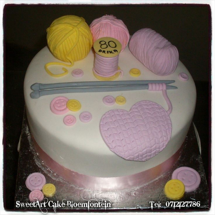 Knitting cake. For more info & orders email SweetArtBfn@gmail.com or call 0712127786.