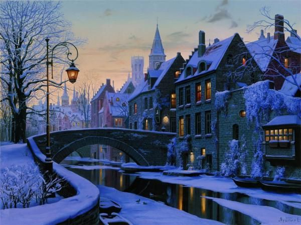 Realistic Landscape Paintings by Evgeny Lushpin - Fine Art Blogger