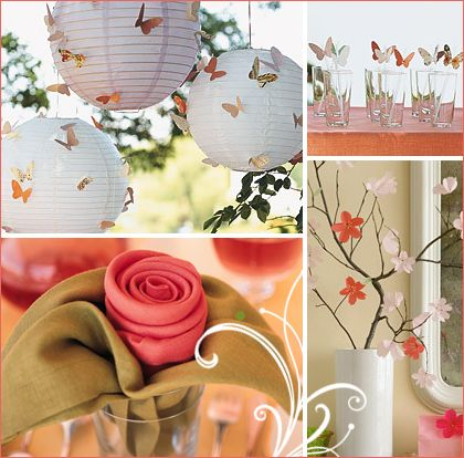 """Hostess w/ the mostess"" blog suggests all-white butterflies on brightly colored lanterns instead of what's in the pic... which sounds awesome!"