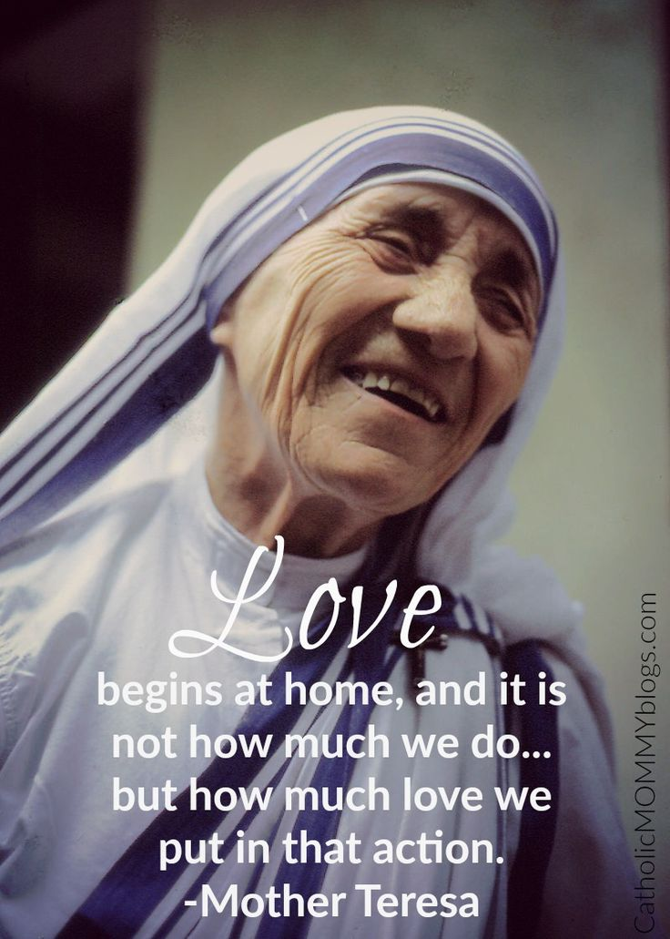 On Mother Teresa's canonization and her simple acts of love