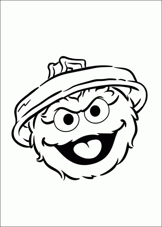 Coloring page of Oscar head Oscar the Grouch Sesame