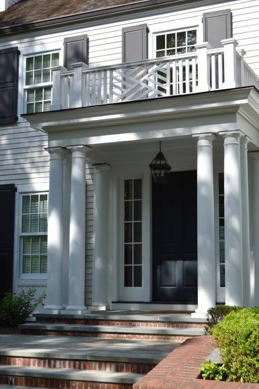Stately, inviting entry portico