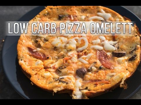 Low Carb Pizza Omelett - fast ohne Kohlenhydrate