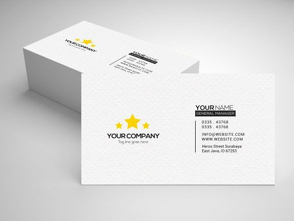 Simple Business Card By Nofi Sofyan Hadi On Graphicsauthor Simple Business Cards Business Card Logo Business Brochure
