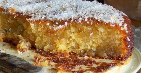 Μωσαϊκό: Σιροπιαστό κέικ καρύδας