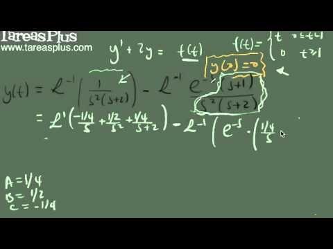 Solución ED con una función a tramos mediante transformada de laplace parte 2