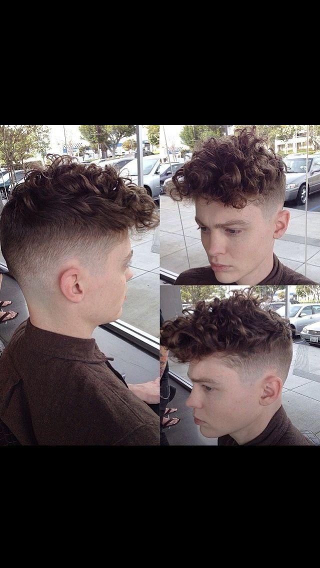 Curly men's cut