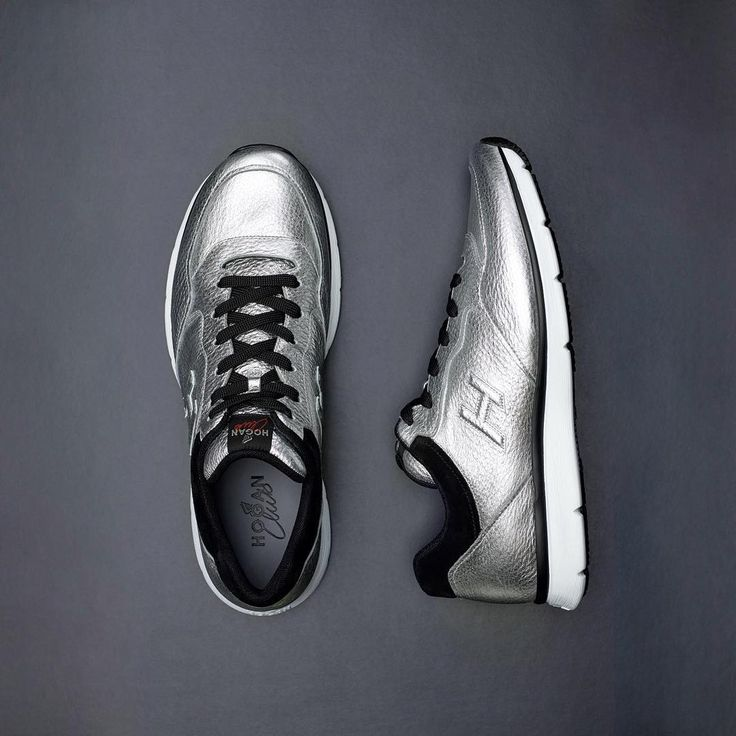 Sublime silver. The #HOGAN #FW1617 #Traditional 20.15 #sneakers in metallic leather  Join the #HoganClub #lifestyle and share with us your @hoganbrand pictures on Instagram