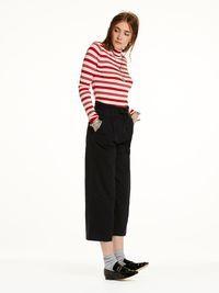 Pantalon jambes larges avec taille paper bag   Joggings   Habillement Femme Scotch & Soda