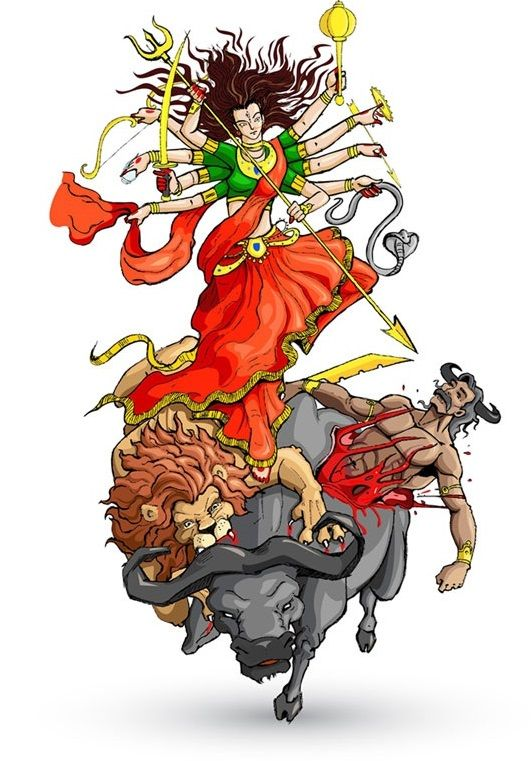 Navratri is one of the major festival celebrated in India. Typically it is celebrated for 9 nights and on 10th day it is celebrated as Vijayadashami or Dasera or Dashera or Dussehra. Vijayadashami literally means victory on the tenth lunar day. It is believed that goddess Durga fought with demons for 9 nights and 10 days. On this 10th day, she killed the demon Mahishasur.