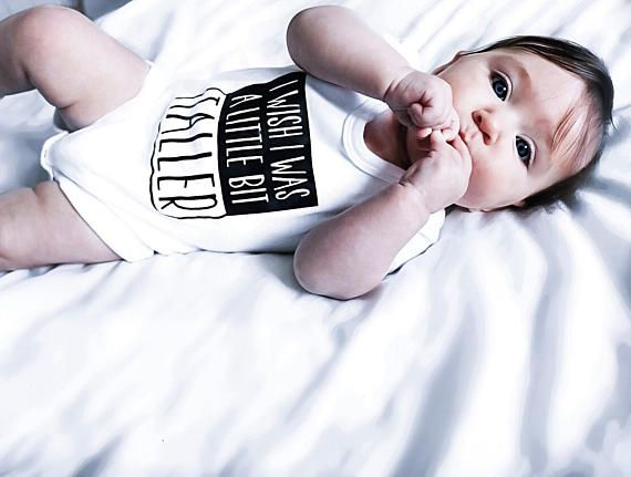 I Wish I Was A Little Bit Taller Baby Vest / Baby Grow / Baller / Baby Romper / Best Newborn Gifts / Baby Girl Clothes / Baby Boy Clothes  Check out this item in my Etsy shop https://www.etsy.com/uk/listing/557289740/i-wish-i-was-a-little-bit-taller-baby