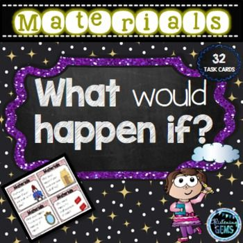Materials Task Cards - What would happen if cars were made out of glass? These fun science task cards are a fun way to promote conversation and creative thinking about materials and their uses.