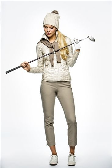 Daily Sports Magic High Water Cropped Golf Pant in sand | #OOTD #fallgolf #golf4her