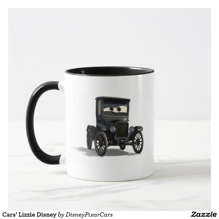 Cars' Lizzie Disney. Producto disponible en tienda Zazzle. Tazón, desayuno, té, café. Product available in Zazzle store. Bowl, breakfast, tea, coffee. #taza #mug